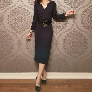 Jigsaw uk knitted silk blend dress